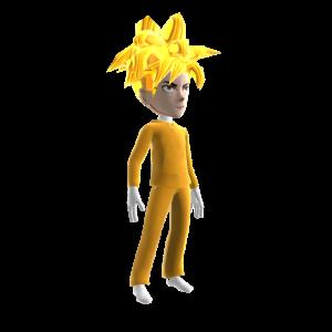 Anime Hero Suit Gold 2