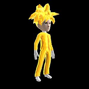 Anime Hero Suit Gold Chrome 3