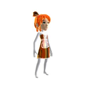 Anime Chrome Maid Brown Orange