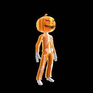 Halloween Org Skull Suit Pmpkn
