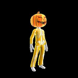 Halloween Gld Skull Suit Pmpkn