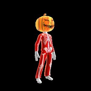 Halloween Red Skull Suit Pmpkn
