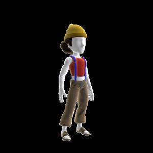 70s Yellow Hat Suspenders