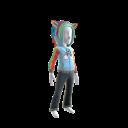 Rainbow Unicorn Hoodie - Baby Blue