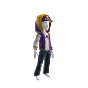LSU Jacket and Hat