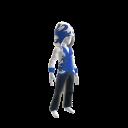 Huntsman Hoodie - White and Blue