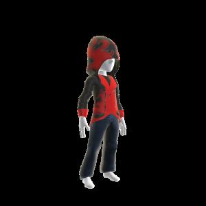 Huntsman Hoodie - Black and Red