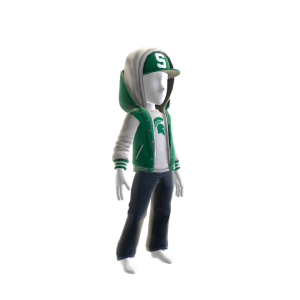 Michigan State Jacket and Hat