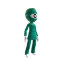 One-eyed Alien Costume
