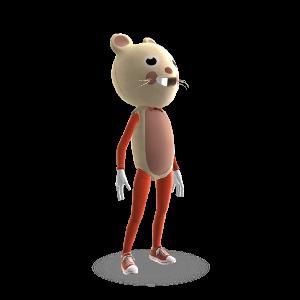ネズミ マスコット ユニフォーム