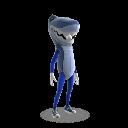 Fato de mascote tubarão