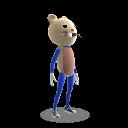 Fato de mascote rato