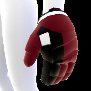 Cinnabar with Black and White Trim Hockey Gloves