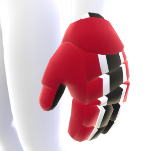 Cinnabar with White and Black Trim Hockey Gloves