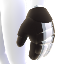 Black with Silver and White Trim Hockey Gloves