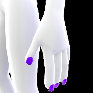 Short Square Purple Nails