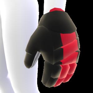 Black with Crimson Trim Hockey Gloves