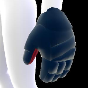 Midnight Blue with Crimson Trim Hockey Gloves