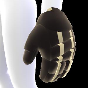 Black with Tan Trim Hockey Gloves