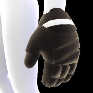 Black with White Trim Hockey Gloves