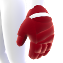 Cinnabar with White Trim Hockey Gloves