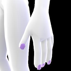 Short Square Lavender Nails