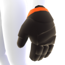 Black with Orange Trim Hockey Gloves