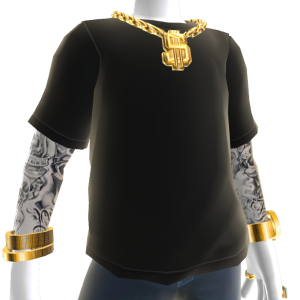 Bling Tee and Tattoos - Black