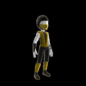 Retro Ninja Outfit - Yellow
