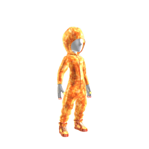 Fire Galaxy Hooded Onezie