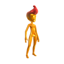 Gold Body Suit - Red Hair