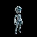 Disfraz de robot femenino