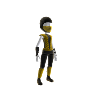 Retro Ninja Outfit - Yellow