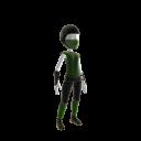 Retro Ninja Outfit - Green