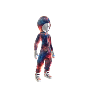 Red White & Blue Galaxy Hooded Onezie