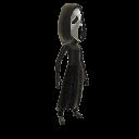 Disfraz con cara de fantasma