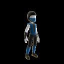 Retro Ninja Outfit - Blue