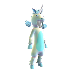 Blue Unicorn Onesie
