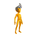 Gold Body Suit - Silver Hair