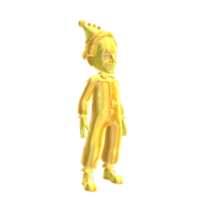 Gold Evil Clown Outfit