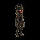 Disfraz de samurái negro con cuernos