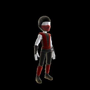 Retro Ninja Outfit - Red