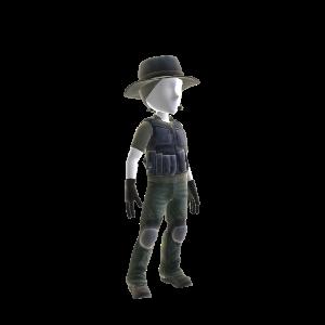 Cracha Preto Sniper Outfit