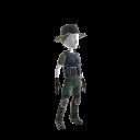 Cracha Preto - strój snajpera