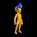 Gold Body Suit - Blue Hair