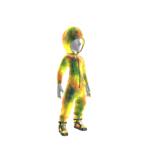 Rasta Galaxy Hooded Onezie