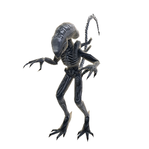 Mascote Avatar Alien - Soldado