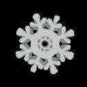 Copos de nieve de adorno