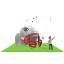 Patriots Inflatable Helmet