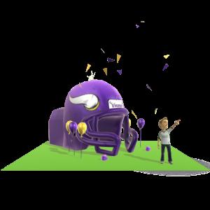 Vikings Inflatable Helmet